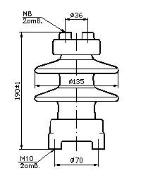 Изолятор С4-80-I УХЛ 1