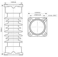 Изолятор ИОС-110-600 УХЛ1, фото 2