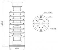Изолятор ИОС-110-300 УХЛ1, фото 2