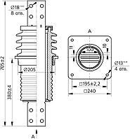 Изолятор ИПУ-10/3150-12,5УХЛ1, фото 2