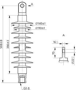 Изолятор ФСПК 120-25/1,1