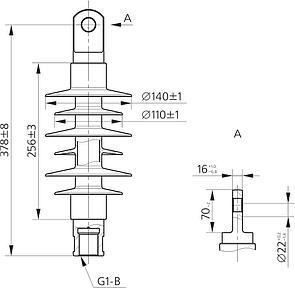 Изолятор ФСПК 120-3/0,6