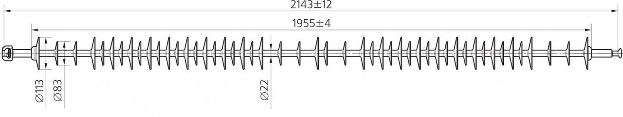 Изолятор ЛК 70/220-2 ГП