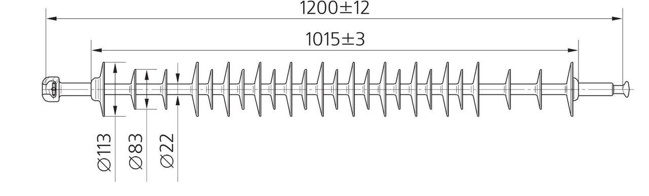Изолятор ЛК 70/110-2 ГП