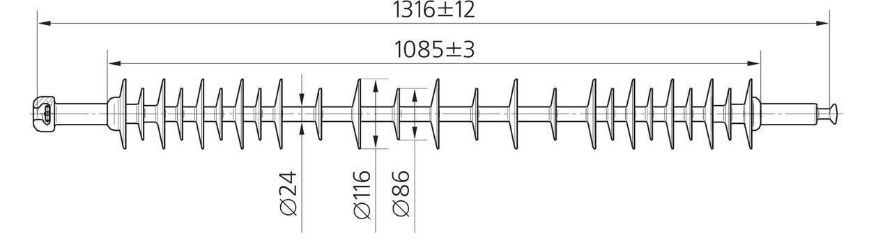 Изолятор ЛК 120/110-2 ГС