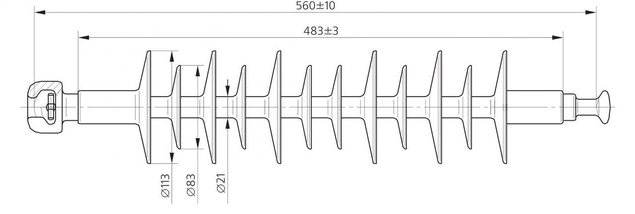 Изолятор ЛК 70/35-4 ГС