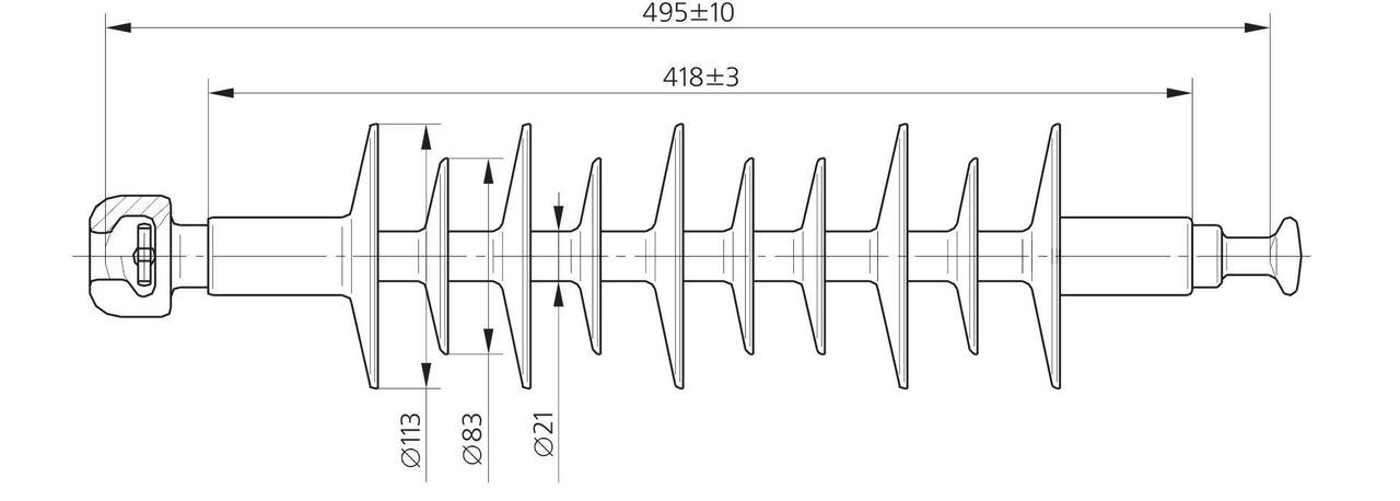 Изолятор ЛК 70/35-4 ГП