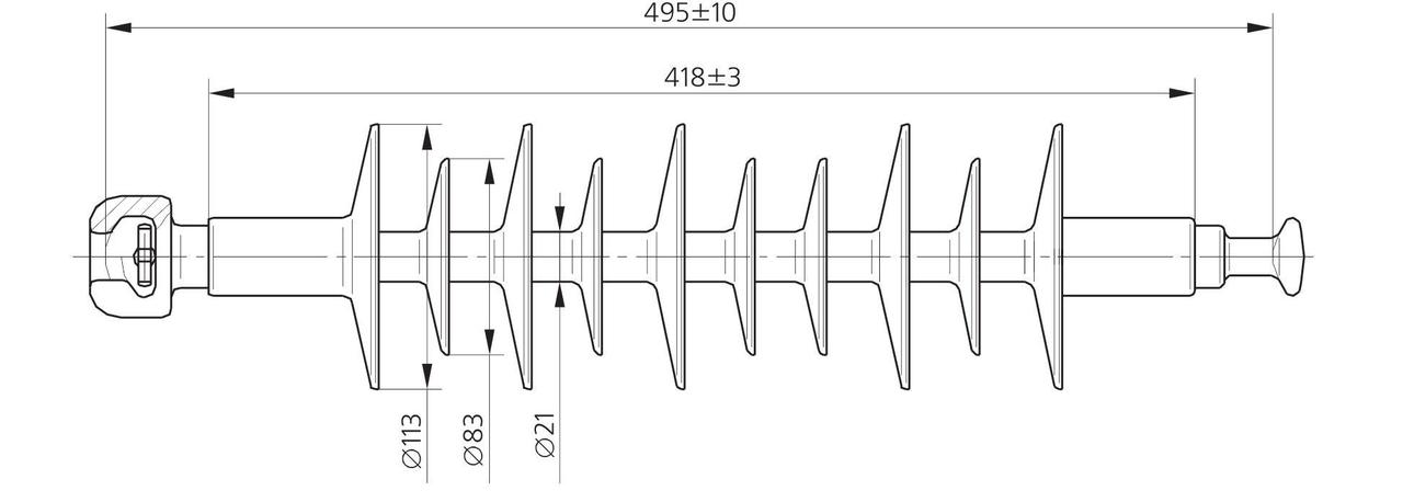 Изолятор ЛК 70/35-3 СП