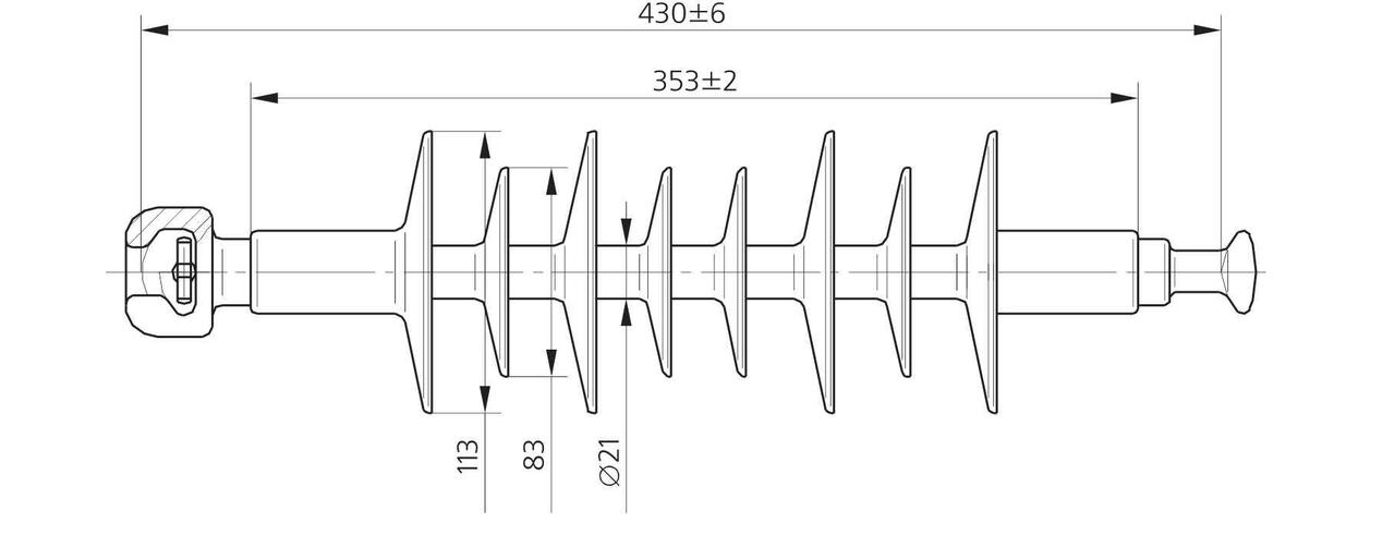 Изолятор ЛК 70/20-4 ГП