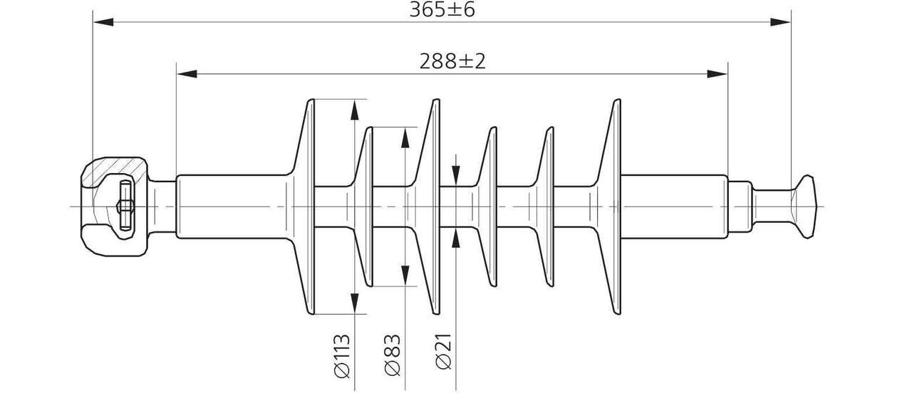 Изолятор ЛК 70/15-4 ГП