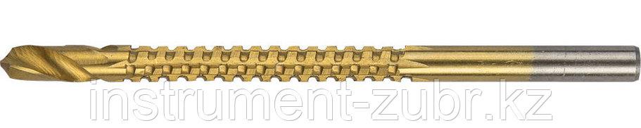 Сверло фрезеровальное по дереву, тонколистному металлу, ЗУБР Мастер 29965-04, d=4х75мм, фото 2