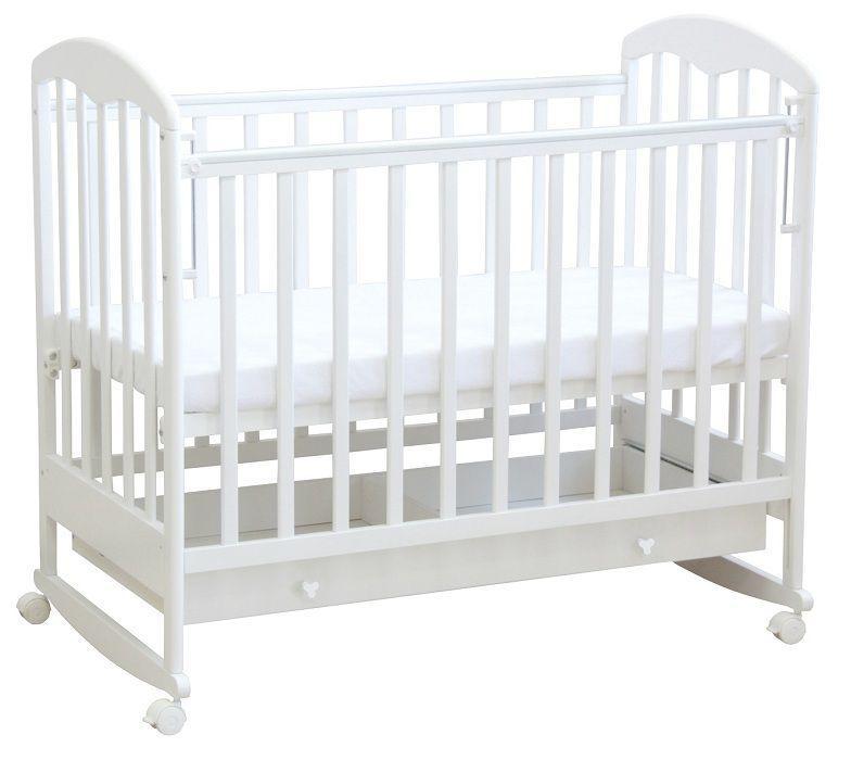 """Кровать детская Фея """"325"""" (белый), состав - массив березы, ящик под кроватью - 1"""