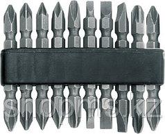 Биты набор 10 шт CrV, 65 мм, двухсторонние