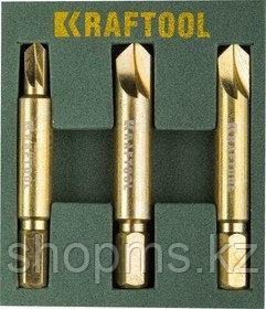 Набор экстракторов KRAFTOOL для выкручивания крепежа с износом граней шлица до 95%. АКЦИЯ
