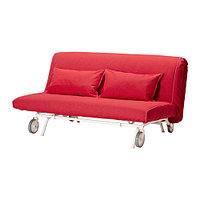 Диван-кровать 2-местный ИКЕА/ ПС МУРБО Ванста красный, фото 1