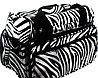 Сумка для мастера TONI&GUY - черный с белым зебра