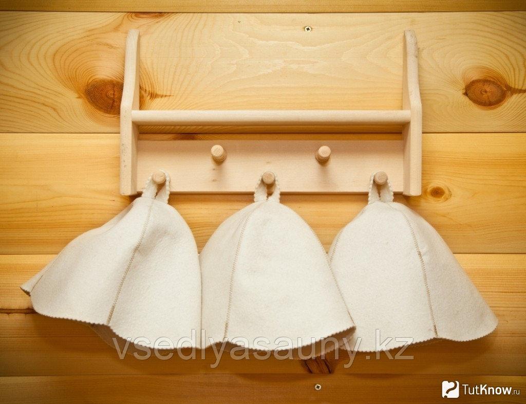 Шапки для бани и сауны из натурального войлока.