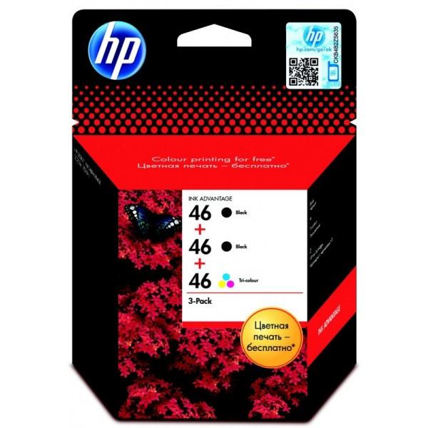 Струйный картридж HP 46 (Оригинальный, Цветной) F6T40AE