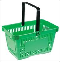 Корзина пластиковая для супермаркета 23L