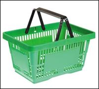 Корзина пластиковая для супермаркета 21L