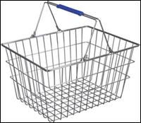 Корзина металлическая для супермаркета 22L