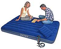 Матрас двухместный Intex с подушками и ручным насосом