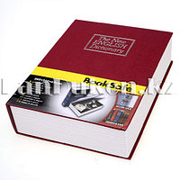 Книга-сейф The New English Dictionary красная 265х200х65 мм большая