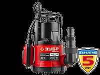 Насос М1 погружной, ЗУБР НПЧ-М1-550, дренажный для чистой воды (диаметр частиц до 5 мм), 550Вт,пропуск. cпособ