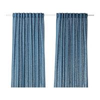 Гардины АЙНА  синий  290x300 см ИКЕА IKEA, фото 1