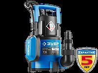 Насос Т3 погружной, ЗУБР Профессионал НПЧ-Т3-400, дренажный для чистой воды (d частиц до 5мм), 400Вт, пропуск.