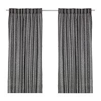 шторы АЙНА темно-серый  290x300 см ИКЕА IKEA, фото 1