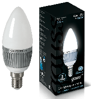 Лампа Gauss LED 6W свеча