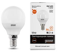 Лампа Gauss LED 6W E14 4100K