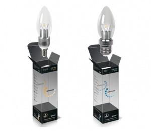 Лампа Gauss LED Globe Crystal clear 3WE14 2700K 1/10/100