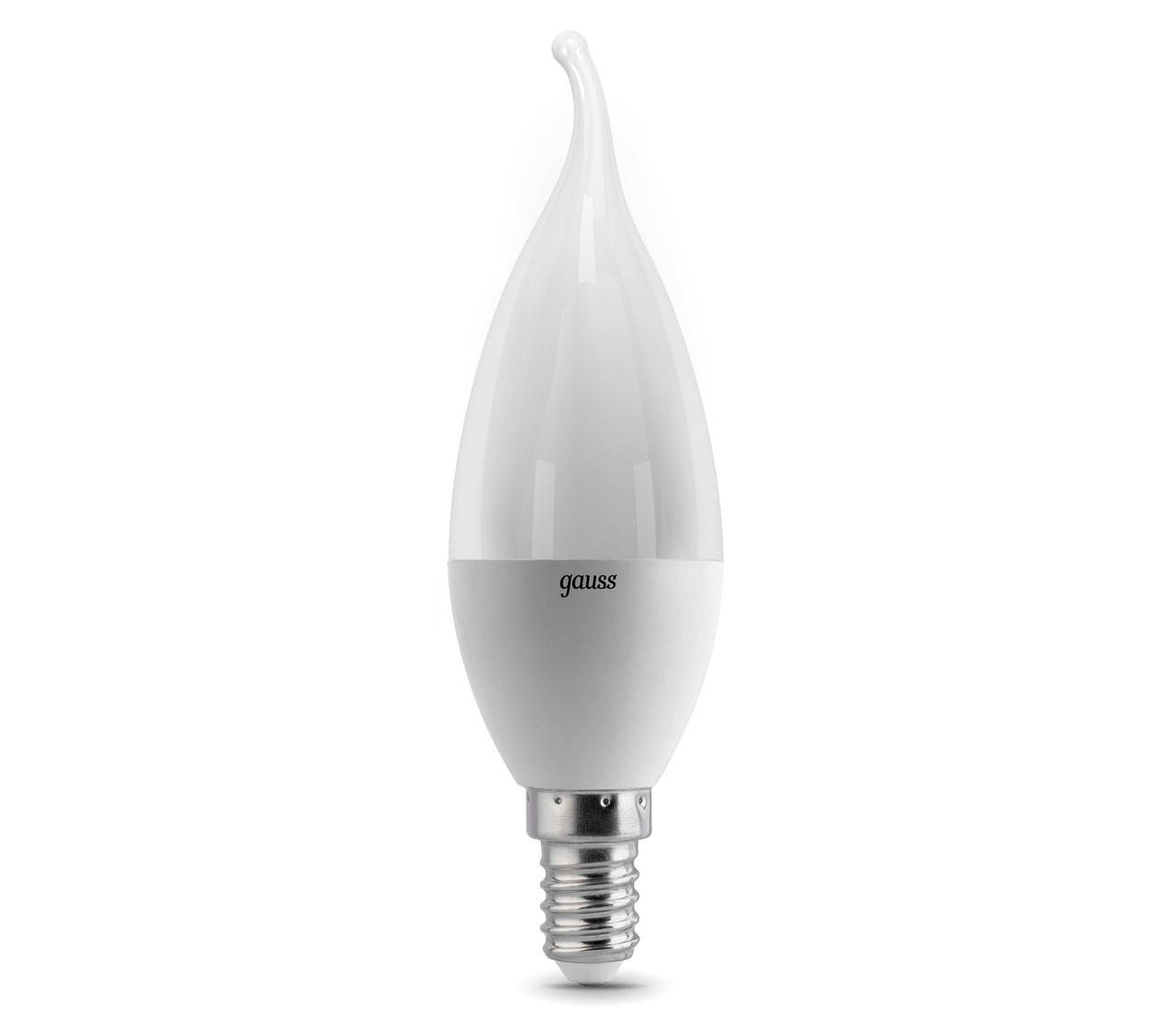 Лампа Gauss LED Candle E14 6.5W 2700K 1/10/50