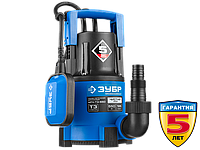Насос Т3 погружной, ЗУБР Профессионал НПЧ-Т3-550, дренажный для чистой воды (d частиц до 5мм), 550Вт