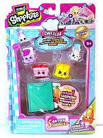 Shopkins, Шопкинс (6 сезон) 5 игрушек в упаковке (Сахарок и Клубничка)
