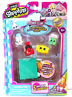 Shopkins, Шопкинс (6 сезон) 5 игрушек в упаковке (Мисс Спринклс и Сиропчик)