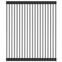 Ролл-мат Omoikiri для кухонных моек (4997003) нержавеющая сталь, чёрный силикон