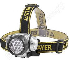 Налобный светодиодный фонарь 19LED, 4 режима, 3ААА STAYER STANDARD 56570