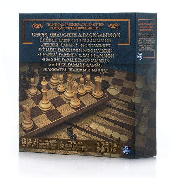 Настольная игра 3 в 1 шахматы/ шашки/ нарды Spin Master
