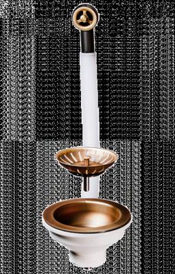 Решетка стоп-вентиль Omoikiri D-01-AB (4996529) перелив античная латунь