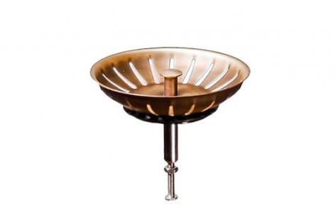 Решетка вентиль автомат Omoikiri D-02-AB (4996530) перелив античная латунь
