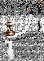Клапан-автомат Omoikiri A-02-AB-1 (4996007) для одночашевых моек, латунь