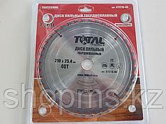 Диск пильный TOTAL TOOLS 210*25,4(40Т)