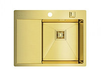 Кухонная мойка Omoikiri Akisame 65-IN-LG-R (4993084) круглый выпуск нерж сталь 40 см