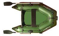 Лодка надувная Kolibri KM-200 (слань-книжка) Z84804 оливковый