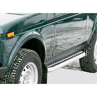 Пороги железные плоские с алюминиевым листом Лада Нива 2121,21213,21214, фото 1