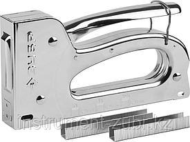 """Степлер для скоб """"Универсал 10"""" 4-в-1: тип 53 (6-10 мм) / 140 (6-10 мм) / 53F (6-10 мм) / 13 (6-10 мм), ЗУБР Профессионал"""