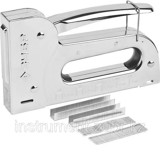 """Степлер для скоб """"Универсал 14"""" 6-в-1: тип 53 (6-14 мм) / 140 (8-14 мм) / 53F (8-14 мм) / 13 (6-14 мм) / 300 (16 мм) 500 (16 мм), ЗУБР Профессионал, фото 2"""
